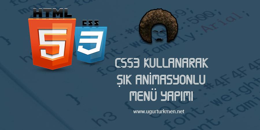 CSS3 ile Animasyonlu Şık Menü Yapımı