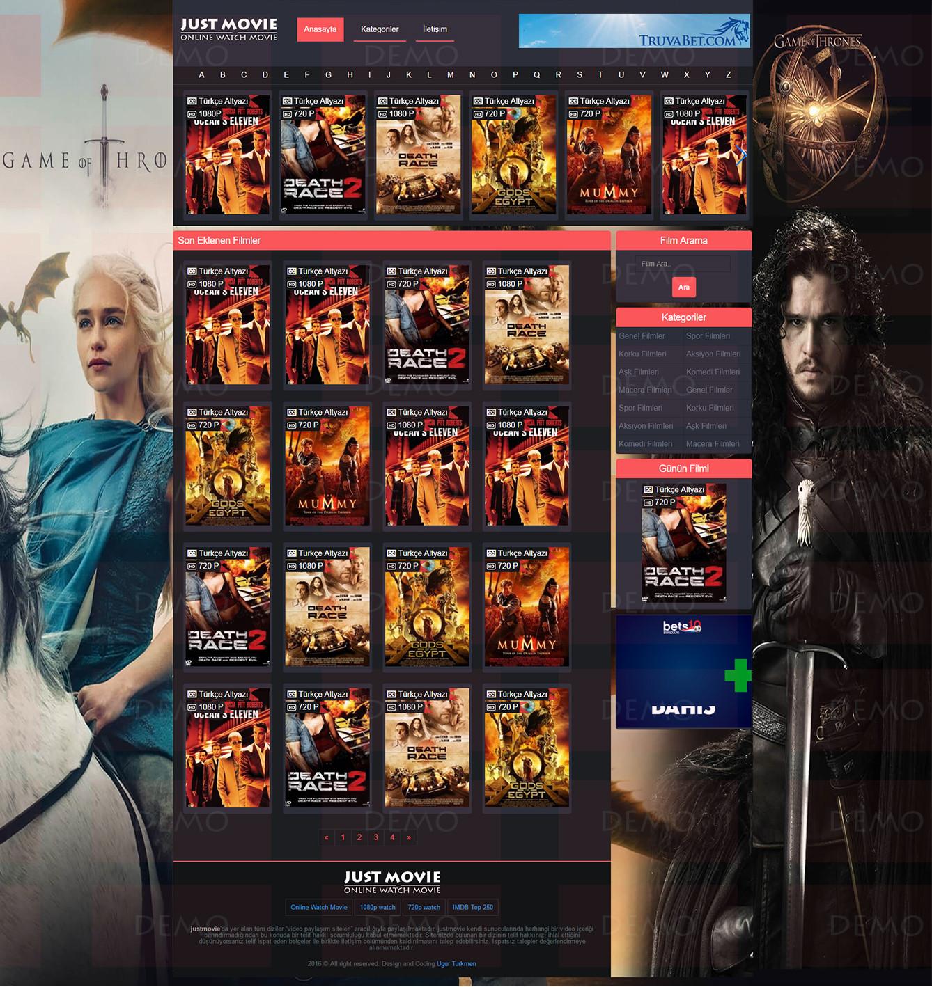 film JustMovie Satış | Anasayfa