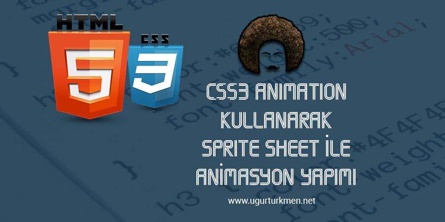 CSS3 Animation Kullanarak Sprite Sheet ile Animasyon Yapımı